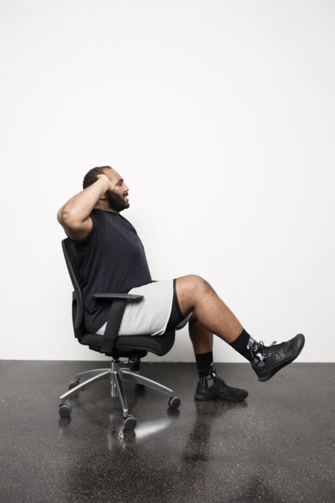 Office Workout am Schreibtischstuhl
