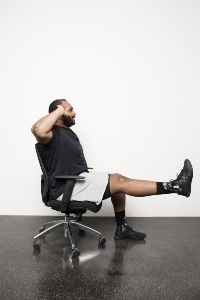 Office Workout am Schreibtisch mit Oti